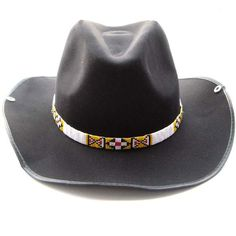 f3c453b5dd0 White Red Yellow Seed Beaded Waist Belt Cowboy Hat band Cowboy Hat Bands