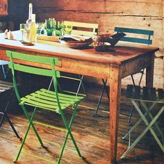 Fermob Bistro chairs & wooden table