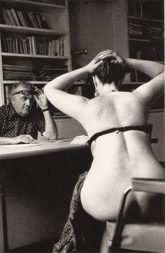 Federico Fellini auditioning in Paris for Casanova, 1975