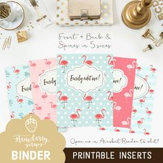 binder cover printable botanical flowers 5x set covers spines binder insert floral binder teacher binder school binder inserts binder