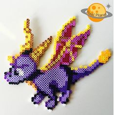The Legend of Spyro perler beads by pixel_planet_