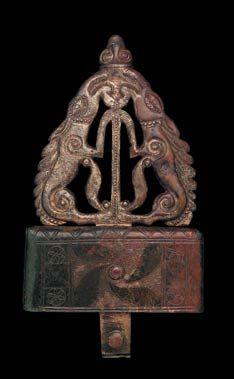 Celtic Bronze Belt Hook with figurative designed hook plate from Prince grave 2 Glauberg. www.hlmd.de/w3.php?nodeId=505