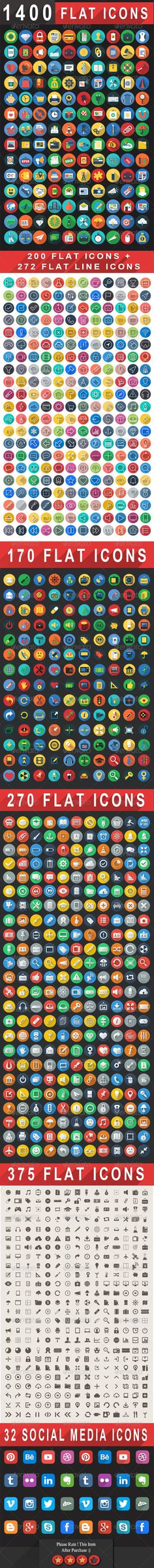 Icon - GraphicRiver 1400& Flat Icons Colorful Flat Icons Set 7830824 » Dondrup.com  Mobile marketing, app, app development, business, collaborations, colorful, communication, computer, consultancy, cross platform, development, flat icons, glyphs, graphics, icons, idea, interface, internet, line, long shadow, mac, media, modern, responsive, seo icons,  Best stock graphics, design templates, vectors, PhotoShop templates, textures & 3D models from creative professional designers.