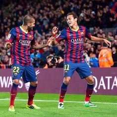 Dani Alves and Neymar FC Barcelona