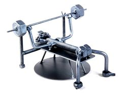 Weight-Lifting MetalDiorama Metal Art by MetalDioramaWoodArt