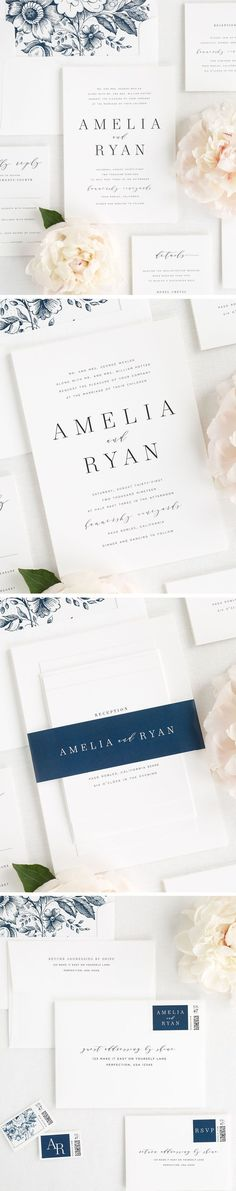 A romantic serif font mixed with modern calligraphy? Yes please! Our new Amelia wedding invitation suite makes a big statement while still remaining simple and classic. If you are looking for a gorgeous way to tie it all together, check out our new 100%