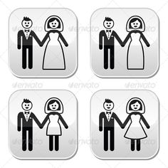 Realistic Graphic DOWNLOAD (.ai, .psd) :: http://jquery-css.de/pinterest-itmid-1008164777i.html ... Wedding Icons Set ...  black, bridal, bride, celebration, couple, engagement, feelings, female, girl, groom, guy, happy, icon, love, man, married, marry, pair, people, relationship, romance, romantic, wedding, wedding gown, woman  ... Realistic Photo Graphic Print Obejct Business Web Elements Illustration Design Templates ... DOWNLOAD :: http://jquery-css.de/pinterest-itmid-1008164777i.html