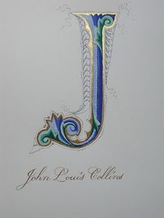 Exquisite detailing - wow #monogram #illumination #art