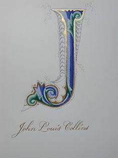 J Exquisite detailing - wow #monogram #illumination #art