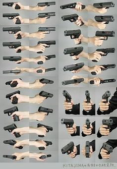 총 잡은 손