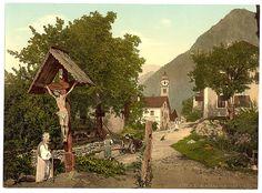 "[Tyrol Village (""Village with crucifix""), Tyrol, Austro-Hungary] (large)"