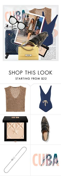 """""""Pack and Go: Cuba"""" by cultofsharon ❤ liked on Polyvore featuring DAMIR DOMA, Lisa Marie Fernandez, Chanel, Givenchy, Chloé, Bling Jewelry and Gentle Monster"""