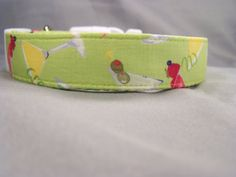 Cocktails on Green Dog Collar by RescueMeCollars on Etsy, $15.99