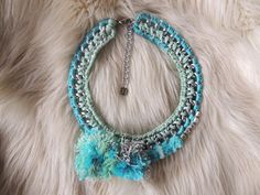 Check out this item in my Etsy shop https://www.etsy.com/listing/221894872/crochet-choker-necklace-mint-statement