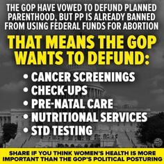 READ AGAIN! NOT Defunding Abortion.that is the Hate and Ignorance Republicans are Selliing for political gain at the expense of women's health. Mantra, Pro Choice, Republican Party, Gop Party, Right Wing, Social Justice, Thought Provoking, In This World, Feminism