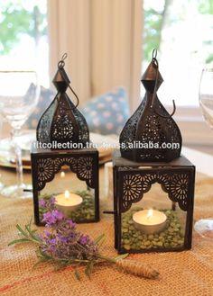 Marocain et Arabe élégant laiton lampe cuivre fini Lanternes-Intérieure En Gros Décor Lanterne-Marocain Style