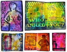 Art Journaling - Faces and Figures - Marjie Kemper Mixed Media Workshop 1 of 3 at ART IS YOU - Stamford CT (October 2015)