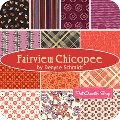 Fairview Chicopee Fat Quarter Bundle Denyse Schmidt for Free Spirit Fabrics