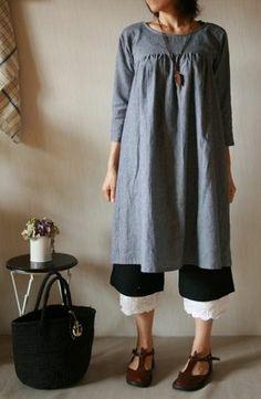 Japanese smock dress