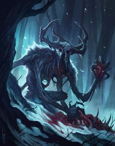 culture marvel ArtStation - The Wendigo, Diana Franco Dark Creatures, Mythical Creatures Art, Monster Concept Art, Monster Art, Dark Fantasy Art, Fantasy Character Design, Character Art, Le Wendigo, Art Sinistre