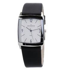 Skagen Men's 691LSLS Black Leather Band Stainless Steel Watch Skagen. $52.87. Durable mineral crystal. Case width: 33mm. Stainless steel case. Water-resistant to 30m (99 ft). Quartz