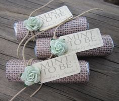 "Bridal shower wedding favor - ""Mint to be"" favors with personalized tag on Etsy, $36.00"
