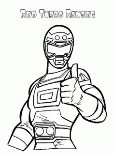 Power Rangers Turbo Is A Great Woman Coloring Page Kids Coloring