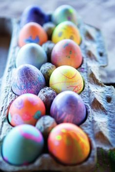 These jewel-colored eggs are so beautiful we often have egg dying get-togethers with our friends and their kids to make them. And you don't have to rely on commercial products to create them, either. Your refrigerator and pantry hold a cornucopia of fruits, vegetables, and spices that can be turned into a rainbow of distinctive dyes.