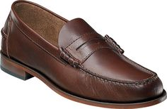 Loafers of leather