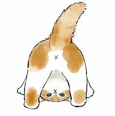 Cute Kawaii Animals, Cute Baby Animals, Kitten Drawing, Cute Baby Cats, Cat Fabric, Cute Animal Drawings, Watercolor Animals, Crazy Cats, Cat Art