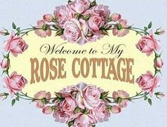 Cottage Names, Cottage Signs, Shabby Chic Theme, Daisy Mae, Rose Pictures, Vintage Typography, Rose Cottage, Background Vintage, Ribbon Colors