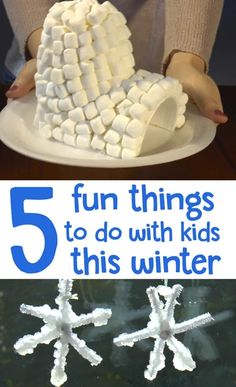 It's too cold to play outside, and the kids are bored! Try these five fun indoor activities. They are sure to keep the kids entertained on a cold winter day when they're all cooped up! For Kids Indoor Winter Activities For Kids, Fun Activities To Do, Winter Crafts For Kids, Indoor Activities For Kids, Winter Kids, Summer Kids, Diy Crafts For Kids, Kids Fun, Vbs Crafts