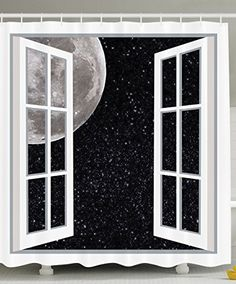 Outer Space Window to the Space Black Grey White Bandana Head Scarf Hair Wrap Hijab Scarf inch Black White Shower Curtain, Black Curtains, Astronomy Tattoo, Star Illustration, Bathroom Decor Sets, Home Design Decor, Scarf Hairstyles, Print Pictures, Outer Space
