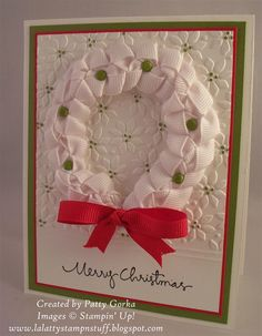 LaLatty Stamp 'N Stuff: 52 Christmas Card Throwdown Theme ~ Wreaths!