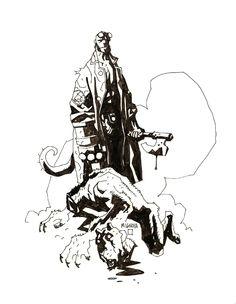 L'univers du démon cornu: Hellboy par Mike Mignola