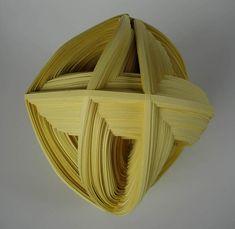 """Paper Art, Noriko Takamiya, Artist, Revolving Cube #27, Paper, 6.7"""" x 7.9"""" x 7.5"""""""