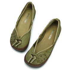 e26cf55af1236 SOCOFY Button Lace Bowknot Flat Slip On Leather Loafers Gender Female