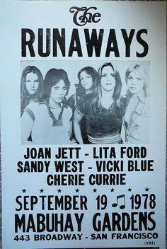 The Runaways At Mabuhay Gardens in San Francisco Poster
