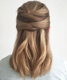 wrapped half updo | chic everyday hairstyles for straight + short hair