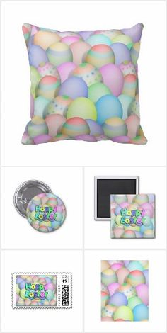 Easter Celebration -  Pastel colored Easter eggs, bunnies, baby chicks on home decor, shirts, mugs and more on a variety of products and gifts! Some products will make cute basket surprises! #Easter #Gravityx9 #Zazzle