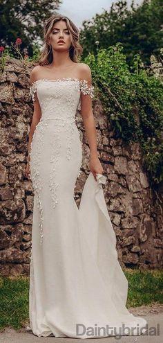 Wedding Dresses 2018, White Wedding Dresses, Wedding Dress Styles, Bridal Dresses, Dress Wedding, Wedding White, Wedding Lasso, Wedding Dress Petite, Simple Sexy Wedding Dresses