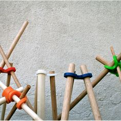 Ta.Ta. Unconventional Design For Kids - rubber joints for making forts!