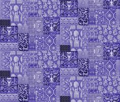 Henry VIII Was A Cheater ... Quilt ~ Blue and White fabric by peacoquettedesigns on Spoonflower - custom fabric
