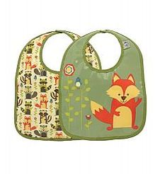 Ensemble de Deux Bavettes de Sugarbooger/Baby Bib Set by Sugarbooger, Renard/Fox