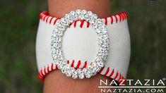 DIY Learn How To Make Baseball Cuff Bracelet (leather bracelets from baseballs jewelry jewellry)