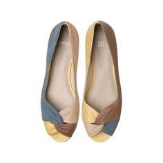 TWSbyCamper-Zapato en piel ante de varios colores con mini tacón... ($160) found on Polyvore