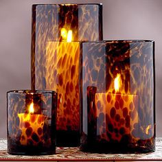 Tortoise Glass Candleholders - Candleholders - Cost Plus Wor ...