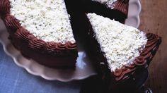 Nugatti chocolate cake, eller chocolate heaven??!! Hvis du elsker sjokolade, eller kjenner noen som er like svak for sjokolade som meg, så lag denne kaken og gi den bort. Eller bare spis hele selv..Det blir en del frostin ut av oppskriften, men bruk godt med frosting mellom hvert kakelag.  Kakebunn Forvarm ovnen til 180 …
