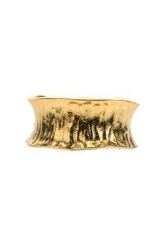 ring sterling silber vergoldet breit nach aussen gwoellbt struktur