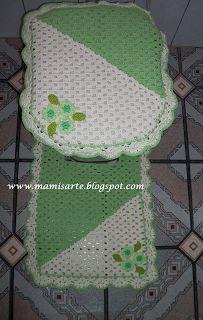 Crochet et Tricot da Mamis: Jogo de Banheiro em Crochet-Tampo do Vaso- Dicas